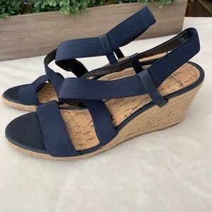 5/$25 - Merona- Navy blue wedge, sz 11 sandals